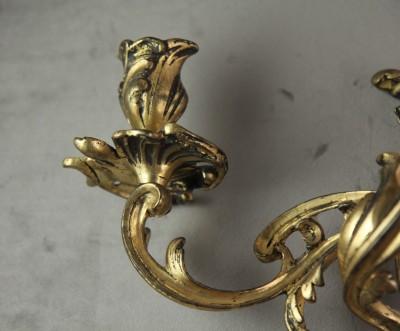 Paire d'appliques en bronze doré - Epoque Louis XV