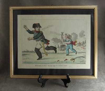 Napoléon à Waterloo - Rare gravure satirique, août 1815