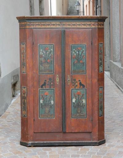 Petite armoire peinte - Suisse, début du XIXe