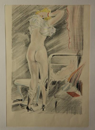 IDYLLE PRINTANIÈRE - Erotica - Feodor Rojankowski (1891-1970)